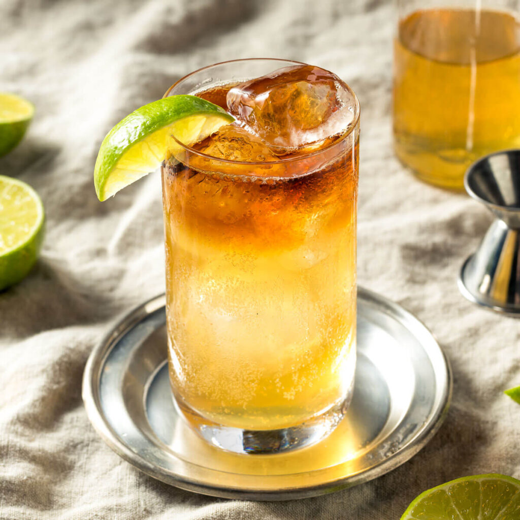 Photo of dark n stormy cocktail