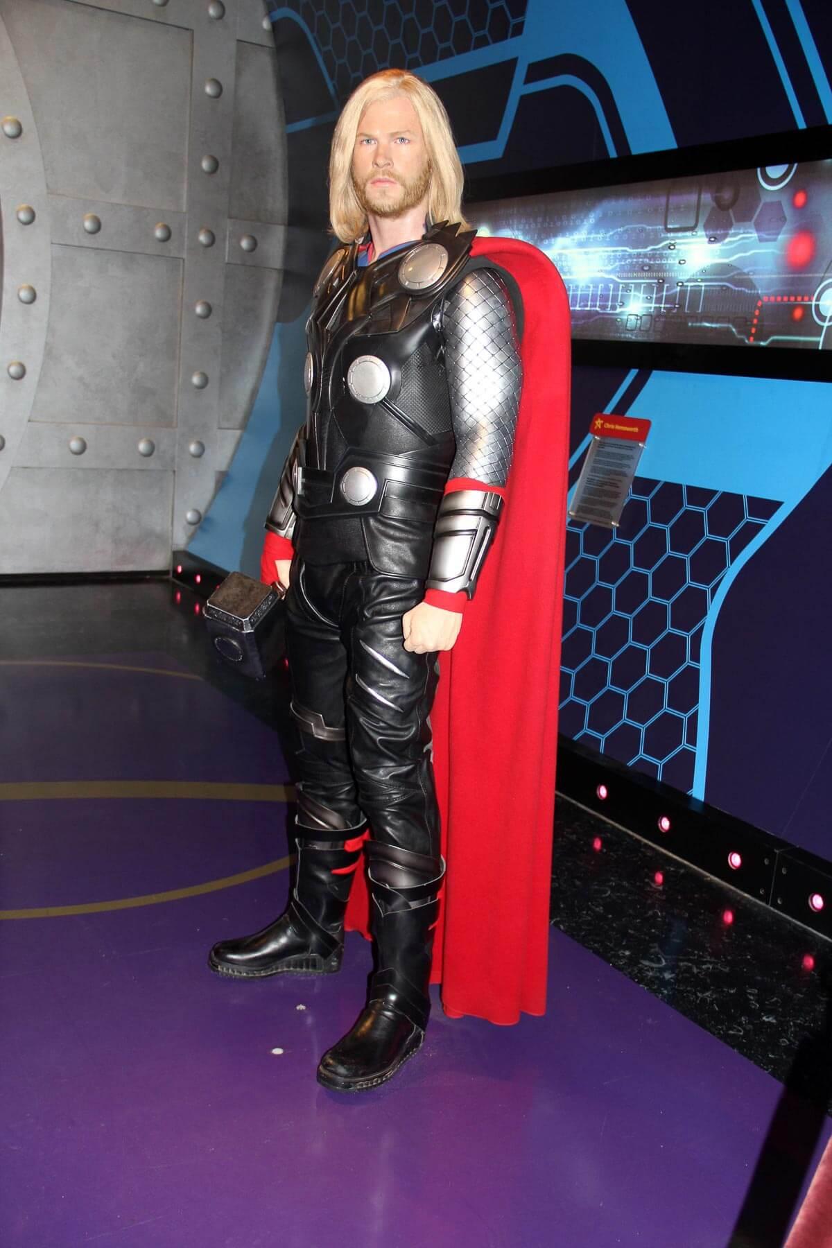 Wax Thor statue