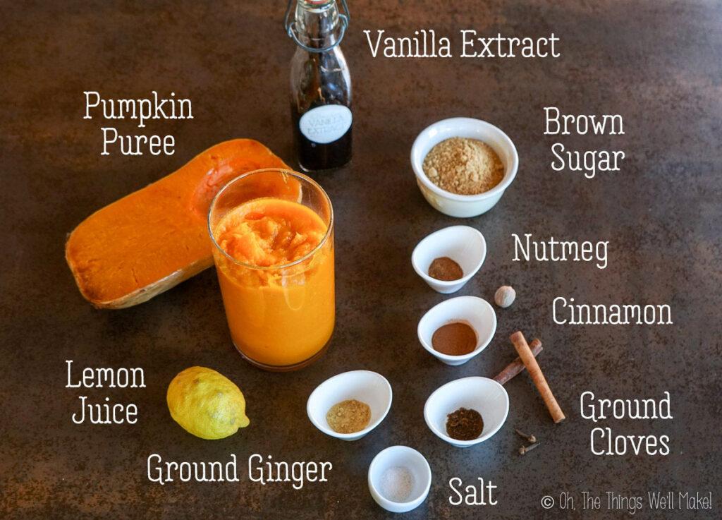 ingredients for homemade pumpkin butter